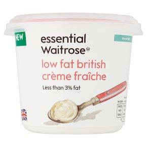 essential Waitrose Low Fat British Crème Fraîche
