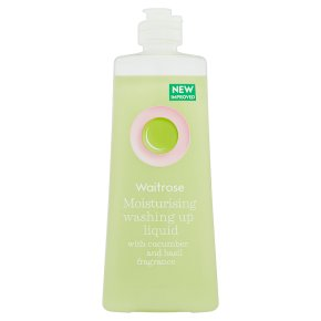 Waitrose cucumber & basil washing up liquid