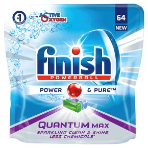 Finish Quantum 64 Dishwasher Tabs Power & Pure