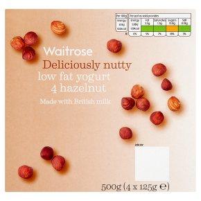Waitrose 4 deliciously nutty hazelnut low fat yogurts