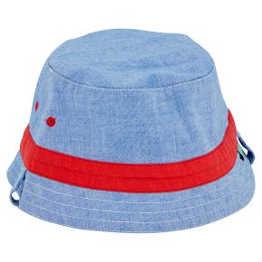 Waitrose Chambray Dino Hat 6-12M