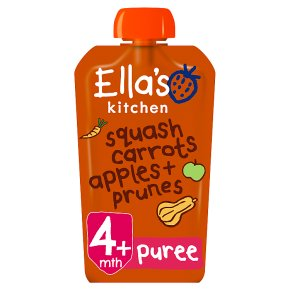 Ella's Kitchen Organic butternut squash, carrots, apples & prunes - stage 1 baby food