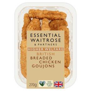 essential Waitrose breaded chicken breast goujons
