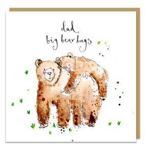 Big bear hugs Dad
