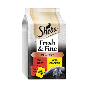 SHEBA Fresh Choice Cat Pouches Succulent Collection in Gravy 6 x 50g