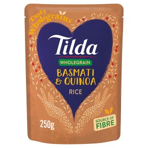 Tilda brown basmati quinoa wholegrain rice