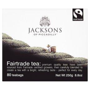 Jacksons of Piccadilly Fairtrade tea 80 tea bags