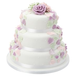 ready made wedding cakes waitrose fiona cairns pastel petal 3 tier wedding cake fruit 18968