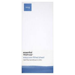 essential Waitrose Easycare Fitted Sheet