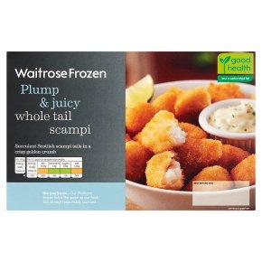 Waitrose Frozen breaded wholetail scampi