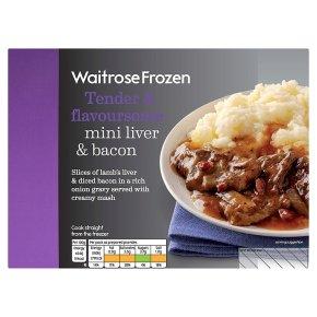 Waitrose Frozen mini liver & bacon