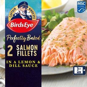 Birds Eye Inspirations 2 Salmon Fish Fillets with Lemon & Herb