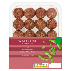 Waitrose 20 Asian-Style Beef Meatballs with Beans