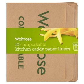Waitrose Compostable Kitchen Caddy Paper Liners