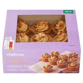Waitrose caramel fudge mini cupcakes