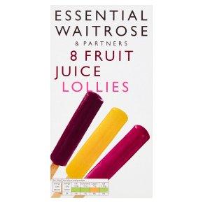 essential Waitrose fruit juice lollies