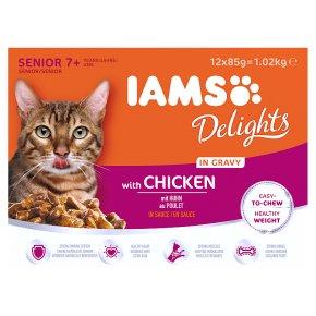 IAMS Senior Delights with Chicken in Gravy