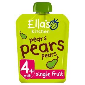 Ella's Kitchen Organic first tastes pears pears pears baby food