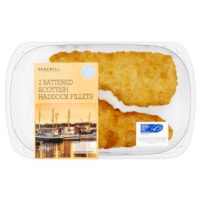 Seachill 2 Battered Scottish Haddock Fillets