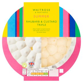 Waitrose Rhubarb & Custard Trifle