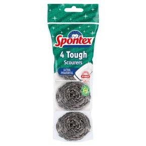 Spontex 4 Tough Scourers