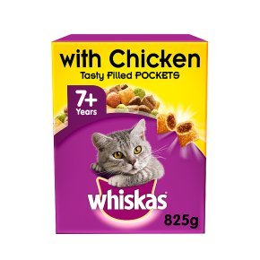 WHISKAS 7+ Senior Cat Complete Dry with Chicken 825g