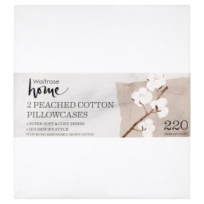 Waitrose Home Peached Cotton Pillowcases