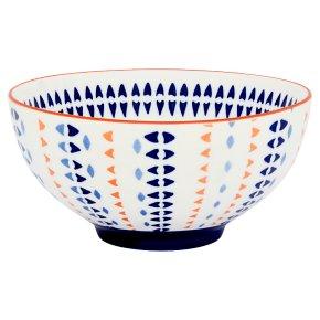 Fusion Medium Orange Stripe Bowl