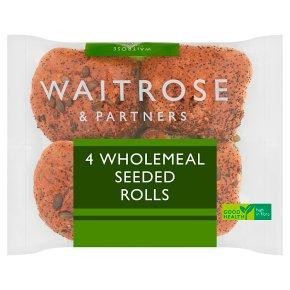 Waitrose Wholemeal Seeded Rolls