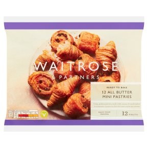 Waitrose mini French butter pastries 12s