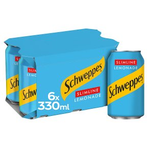 Schweppes diet lemonade multipack cans