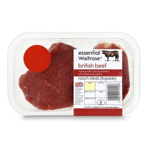 essential Waitrose beef ranch steak (topside)