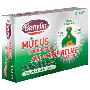 Benylin mucus cough & cold all in one relief tablets