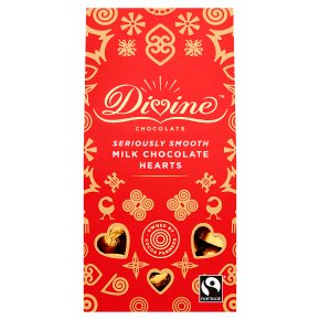 Divine Milk Chocolate Hearts