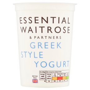 essential Waitrose Greek style natural yogurt