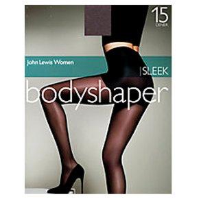 John Lewis 15 denier sleek natural black bodyshaper (medium)