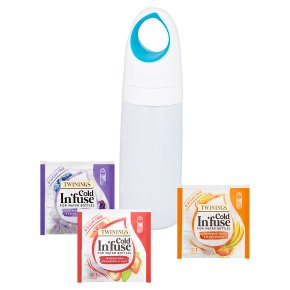 Twinings Cold Infuse Waterbottle, Plus 3 Enveloped Flavours 7.5g