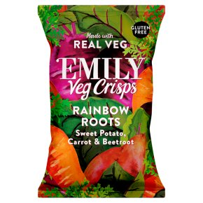 Emily Veg Crisps Sweet Potato, Carrot & Beetroot