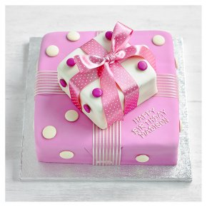 Fiona Cairns Pink Parcel Cake