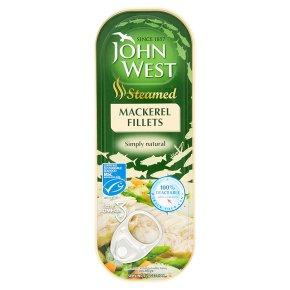 John West steamed natural mackerel fillets