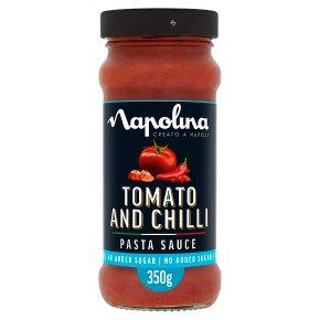 Napolina no added sugar tomato & chilli pasta sauce