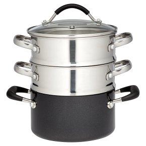 Waitrose Cooking Aluminium Steamer Set