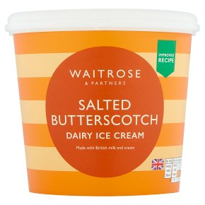 Waitrose Salted Butterscotch Dairy Ice Cream