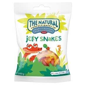 The Natural Confectionery Company jelly snakes sweets bag