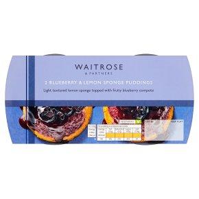 Waitrose Blueberry & Lemon Sponge Puddings