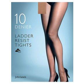 John Lewis 10 denier nude ladder resistant tights (large)