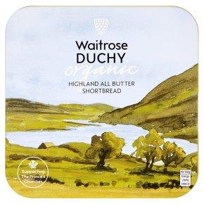 Waitrose Duchy Organic Highland all butter shortbread tin