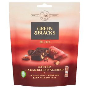 Green & Black's Salted Caramelised Almond Dark Chocolate Bloc Pouch