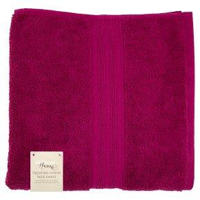 Waitrose Home Egyptian Cotton Bath Towel Raspberry