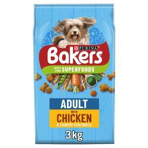 Bakers Adult Dry Dog Foo Chicken & Vegetables